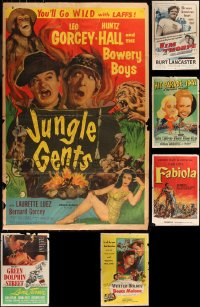 8h0573 LOT OF 8 FORMERLY FOLDED ONE-SHEETS 1940s-1950s great images from a variety of movies!