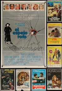 8h0424 LOT OF 16 FOLDED ARGENTINEAN POSTERS 1950s-1980s great images from a variety of movies!