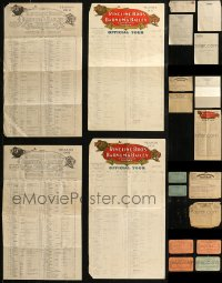 8h0209 LOT OF 20 RINGLING BROS & BARNUM & BAILEY CIRCUS TICKETS, TELEGRAMS, CALENDARS, AND MORE 1910s-1930s