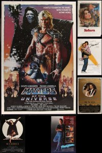 8h0574 LOT OF 7 UNFOLDED SINGLE-SIDED ONE-SHEETS 1980s great images from a variety of movies!