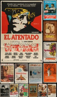 8h0422 LOT OF 18 FOLDED ARGENTINEAN POSTERS 1960s-1980s great images from a variety of movies!
