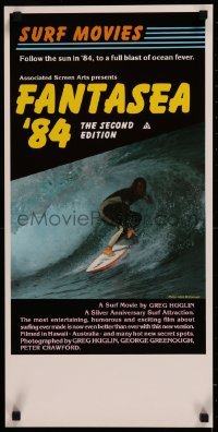 8j0018 FANTASEA '84 Aust daybill 1984 great close up surfing photo, a blast of ocean fever!