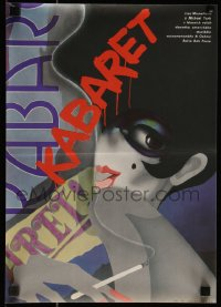8j0006 CABARET Czech 11x16 1989 Liza Minnelli in Nazi Germany, Fosse, different art by Bartosova!