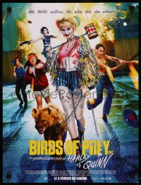 8j0059 BIRDS OF PREY advance French 16x21 2020 Margot Robbie as Harley Quinn with Bruce the Hyena!