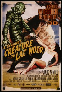 8j0062 CREATURE FROM THE BLACK LAGOON French 16x24 R2012 art of monster holding sexy Julie Adams!