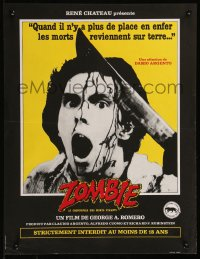 8j0065 DAWN OF THE DEAD French 16x20 1983 George Romero, completely different zombie image!