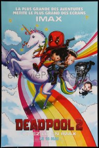 8j0066 DEADPOOL 2 IMAX teaser French 16x24 2018 Ryan Reynolds, different wacky unicorn art!