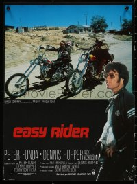 8j0068 EASY RIDER French 16x21 R1980s Peter Fonda, motorcycle biker classic directed by Dennis Hopper