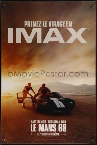8j0073 FORD V FERRARI IMAX teaser French 16x24 2019 Bale, Damon, Ford GT40 race car, Le Mans '66!