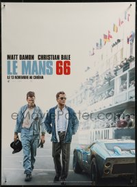 8j0074 FORD V FERRARI teaser French 15x21 2019 Christian Bale & Matt Damon on track, Le Mans '66!