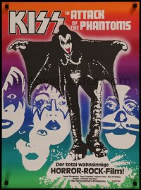 8j0012 ATTACK OF THE PHANTOMS Swiss 1978 cool image of KISS, Criss, Frehley, Simmons, Stanley!
