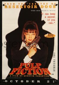 8j0009 PULP FICTION group of 4 English 14x20 1994 Uma Thurman, Willis, Travolta, Jackson & Keitel!