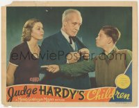 8k1014 JUDGE HARDY'S CHILDREN LC 1938 Rooney asks Stone to tell Parker not to treat him like a kid!