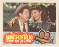 8k1018 KEEP 'EM FLYING LC R1953 best close up of Martha Raye with her arm around Lou Costello!