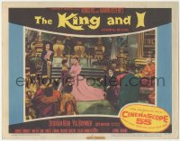 8k1025 KING & I LC #5 1956 Brynner watches Deborah Kerr with kids, Rodgers & Hammerstein's musical!