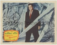 8k1034 LADY FROM SHANGHAI LC #2 1947 cool full-length image of Orson Welles standing by surreal art!