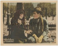 8k1037 LAND OF HOPE LC 1921 pretty Alice Brady comforting Jason Robards Sr. on bench, very rare!