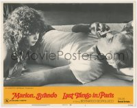 8k1040 LAST TANGO IN PARIS LC #3 1973 Marlon Brando plays harmonica for Maria Schneider, Bertolucci!