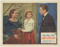 8k1046 LETTER TO THREE WIVES LC #4 1949 c/u of Jeanne Crain, Ann Sothern & young Kirk Douglas!
