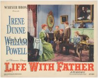 8k1047 LIFE WITH FATHER LC #2 1947 red-haired Irene Dunne with Jimmy Lydon & three other sons!