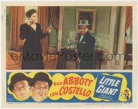 8k1052 LITTLE GIANT LC R1954 Margaret Dumont looks confused at Lou Costello sweeping the floor!