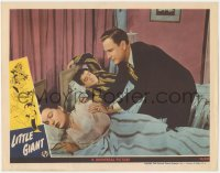 8k1051 LITTLE GIANT LC 1946 Bud Abbott wakes Elena Verdugo without disturbing Lou Costello!