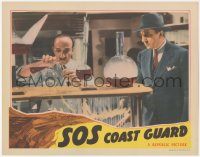 8k1195 SOS COAST GUARD LC 1942 mad scientist Bela Lugosi watches experiment in laboratory!