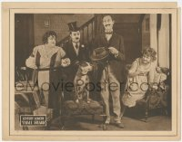 8k1211 TABLE STEAKS LC 1922 great image of Brownie the Dog sitting with his family, very rare!