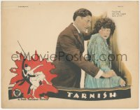 8k1213 TARNISH LC 1924 close up of angry Ronald Colman threatening Marie Prevost, ultra rare!