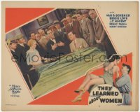 8k1224 THEY LEARNED ABOUT WOMEN LC 1930 Gus Van & Bessie Love surrounded by men, baseball, rare!