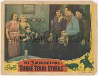 8k1229 THREE TEXAS STEERS LC 1939 young boy points huge rifle at John Wayne of The 3 Mesquiteers!