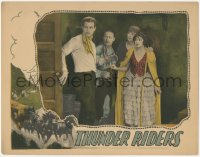8k1232 THUNDER RIDERS LC 1927 Ted Wells, Charlotte Stevens & two others sneaking around, rare!