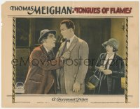 8k1241 TONGUES OF FLAME LC 1924 pretty Bessie Love watches man pleading with Thomas Meighan!