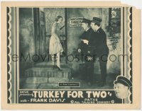 8k1252 TURKEY FOR TWO LC 1929 young William Frawley stares at sexy Noel Francis, ultra rare!