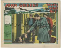 8k1253 TWELVE MILES OUT LC 1927 angry John Gilbert wants man to take orders from him, rare!