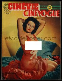 8m0457 CINEVOGUE French magazine May 25, 1948 super sexy Jane Russell in sheer revealing nightgown!