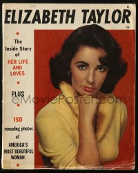 8m0468 ELIZABETH TAYLOR magazine 1957 the inside story of her life & loves, 150 revealing photos!