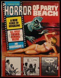 8m0509 HORROR OF PARTY BEACH vol 1 no 1 magazine 1964 Famous Films issue presented in fumetti style!