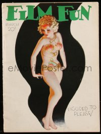 8m0489 FILM FUN magazine March 1934 great sexy cover art by Enoch Bolles, figured to please!