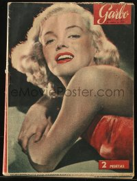 8m0497 GARBO Spanish magazine October 3, 1953 great cover portrait of sexy Marilyn Monroe!