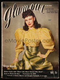 8m0501 GLAMOUR magazine May 1940 great cover portrait of Ginger Rogers in RKO's Primrose Path!