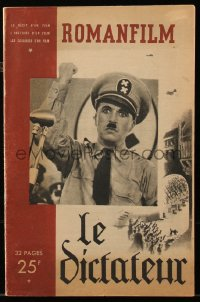 8m0502 GREAT DICTATOR French magazine 1940 many great images of star/director Charlie Chaplin!