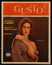 8m0503 GUSTO vol 1 no 1 magazine 1962 lots of sexy images of nude women, The History of Beer & more!
