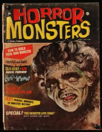 8m0507 HORROR MONSTERS vol 1 no 1 magazine 1961 DeMarco art, Curse of the Werewolf, rare first issue!