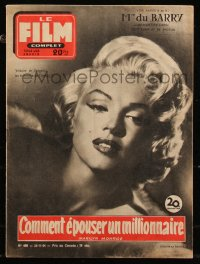 8m0515 HOW TO MARRY A MILLIONAIRE French magazine November 25, 1954 Marilyn Monroe, Le Film Complet!