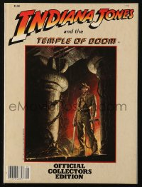 8m0518 INDIANA JONES & THE TEMPLE OF DOOM magazine 1984 the official collectors edition!