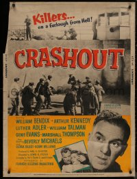 8p0003 CRASHOUT 30x40 1954 desperate caged men who go over the wall, cool prison break images!