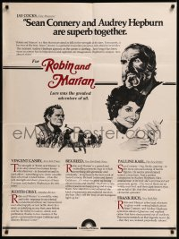 8p0008 ROBIN & MARIAN 30x40 1976 art of Sean Connery & Audrey Hepburn by Drew Struzan!