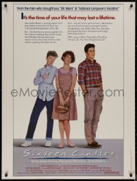 8p0010 SIXTEEN CANDLES 30x40 1984 Molly Ringwald, Anthony Michael Hall, directed by John Hughes!