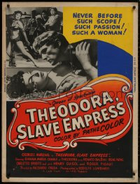 8p0011 THEODORA SLAVE EMPRESS 30x40 1954 Georges Marchal & pretty Gianna Maria Canale!